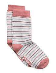 Babysock - Stripe with Lurex - 519/DUSTYROSE