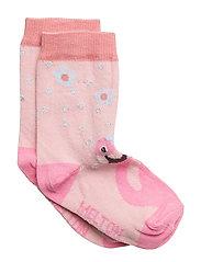 Babysock - Flamingo with Lurex - 509 WILD ROSE