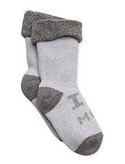 Sock Terrycotton - I Love Mom - 130/PEARLGREYMELANGE