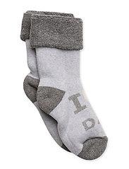 Sock Terrycotton - I Love Dad - 130/PEARLGREYMELANGE