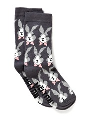Sock, Funky rabbit - Graphite grey