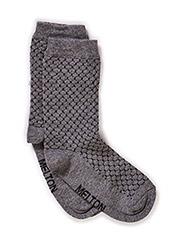Sock, Honeycumb w/Lurex - MEDIUM GREY