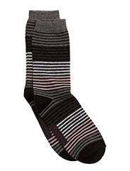 Sock, Slimlines - DARK GREY MELANGE