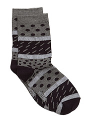 Sock, Super Graphic w/Lurex - LIGHT GREY MELANGE