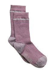Sock - Rib with Silver Lurex - 713/VERYGRAPE