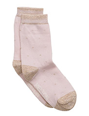 Sock - Small Dots w/gold lurex - 506/HUSHEDVIOLET