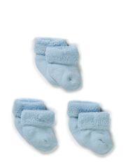 Baby terry cotton, 3-pack - Baby blue