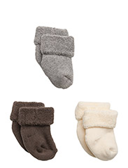 Baby terry cotton, 3-pack - Brown