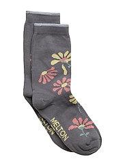 Sock - Flowers - 149/SMOKEDPEARL