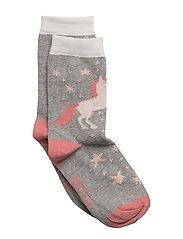 Sock - Unicorn with Lurex - 135/LIGHTGREYMELANGE