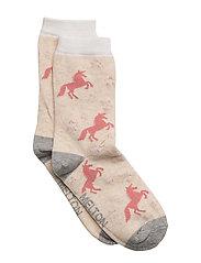Sock - Unicorn AOP with Lurex - 409/NATUREMELANGE