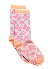 Sock - Flowers - 513 SOFT CERISE