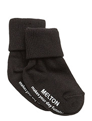 Melton Baby sock, turn-up