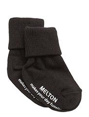 Baby sock, turn-up - 190/BLACK