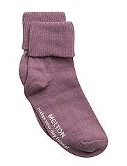Baby sock, turn-up - 713/VERYGRAPE