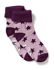 Turn-up sock w/stars