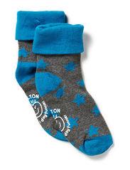 Turn-up sock w/stars
