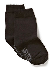 Sock , plain colour - 190/BLACK