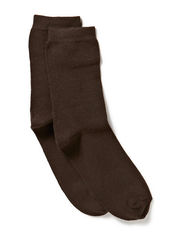 Sock , plain colour - 485/BROWN