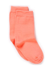 Sock , plain colour - Fusion Coral