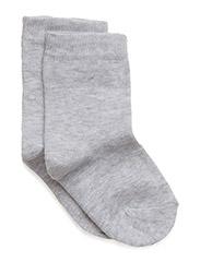 Basic Sock - PEARL GREY MELANGE 130