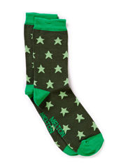 Sock, Stars - Grass green