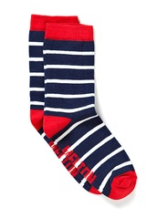 Sock, Marine - Red