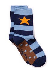 Sock, Star step - Deep blue