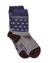 Sock, Mini Stars - Light grey melange