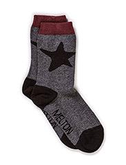 Sock, Star Splash - Medium grey