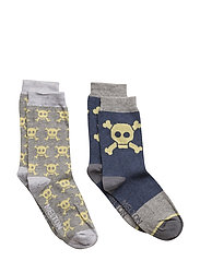2-pk Sock - Skulls - 135/LIGHTGREYMELANGE