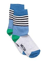 Sock - Mixed Stripes - 204 LIGHT BLUE