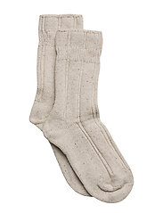 Cozy Bed Sock - Wool with Silk - 409/NATUREMELANGE