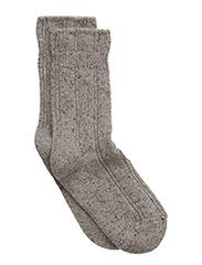 Cozy Bed Sock - Wool with Silk - 135/Lightgreymelange