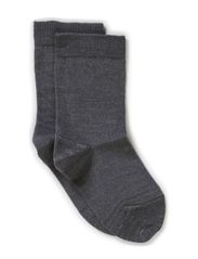 Classic Superwash wool sock - Light grey melange