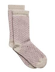 Wool Sock - Nordic with Silk - 409/NATUREMELANGE