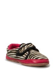 Print Suede Shoe, Animal - Pink
