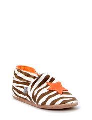 Textile shoe, Zebra Star - Fusion Coral