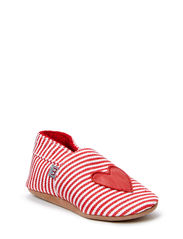 Textile shoe, Anchor/Heart - Red