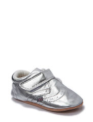 Basic leather shoe w/velcro - Silver