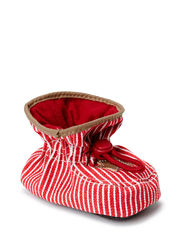 Booties Cotton, Fabric w/star - Red