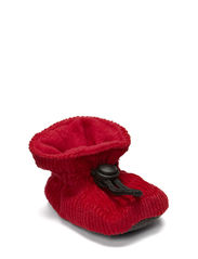 Bootees Cotton Corduroy - Red