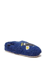Wool Shoe w/application - 277/DARK BLUE MELANGE