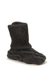 Woolshoe w/suedesole - Graphite grey