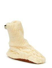 Woolshoe w/suedesole - Offwhite