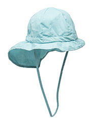 Hat w/neck & bow, Solid col - 223/PASTELBLUE