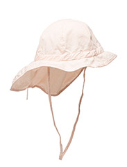 Hat w/neck & bow, Solid col - 501/CHINTZROSE