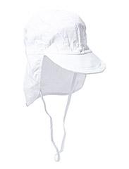 Cap w/neck, Solid colour - White