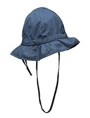 Hat w/brim & bow - Solid col - 285/MARINE