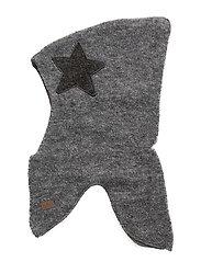 Wool Bouclé Fullface with Star - 135/LIGHTGREYMELANGE